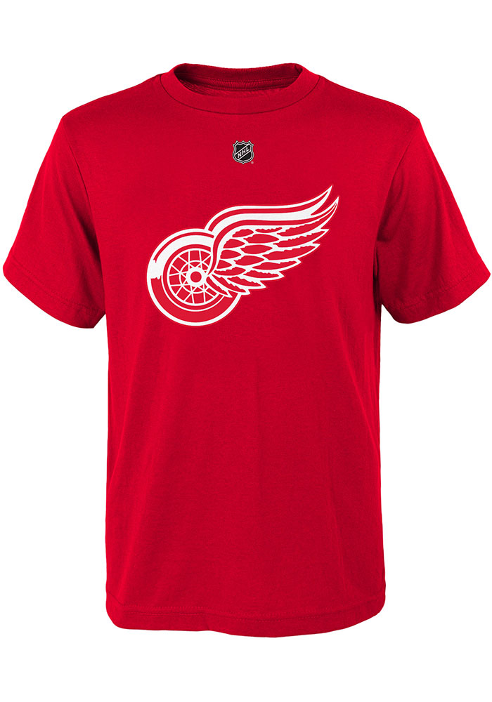 Dylan Larkin Detroit Red Wings Youth Red Player Player Tee - Image 3