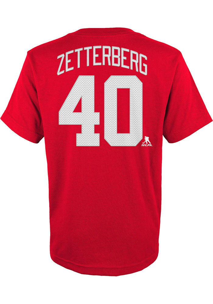 Henrik Zetterberg Detroit Red Wings Youth Red Player Player Tee - Image 2