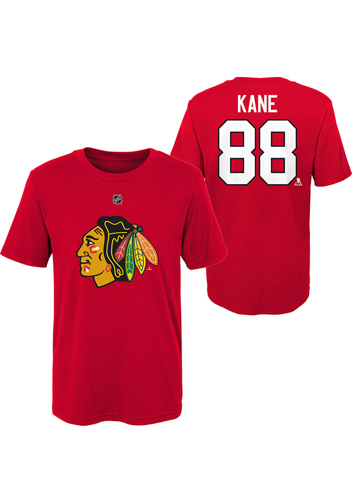 Patrick Kane Chicago Blackhawks Boys Red Player Short Sleeve T-Shirt - Image 1