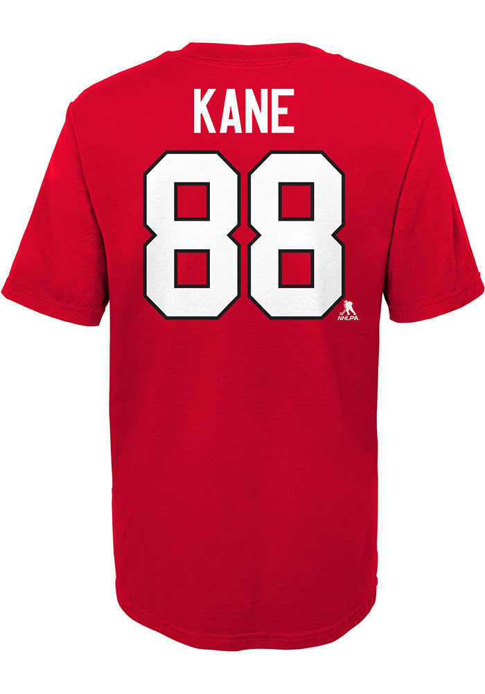 Patrick Kane Chicago Blackhawks Boys Red Player Short Sleeve T-Shirt - Image 2