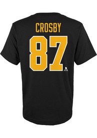 Sidney Crosby Pittsburgh Penguins Boys Outer Stuff Player T-Shirt - Black