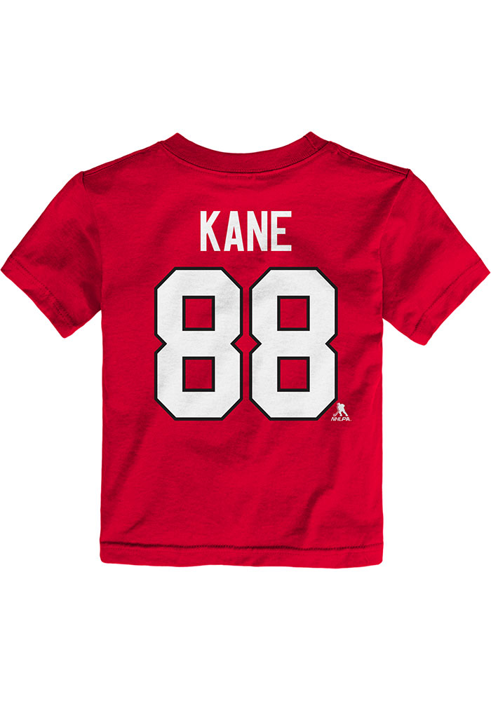 Patrick Kane Chicago Blackhawks Toddler Red Player Short Sleeve Player T Shirt - Image 1