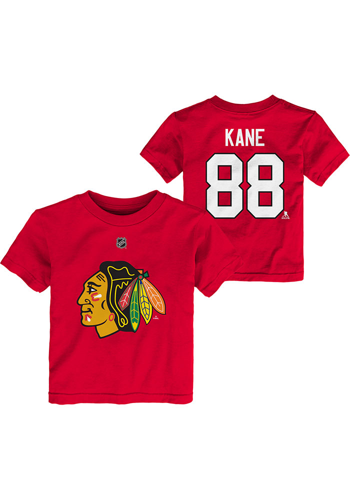 Patrick Kane Chicago Blackhawks Toddler Red Player Short Sleeve Player T Shirt - Image 3