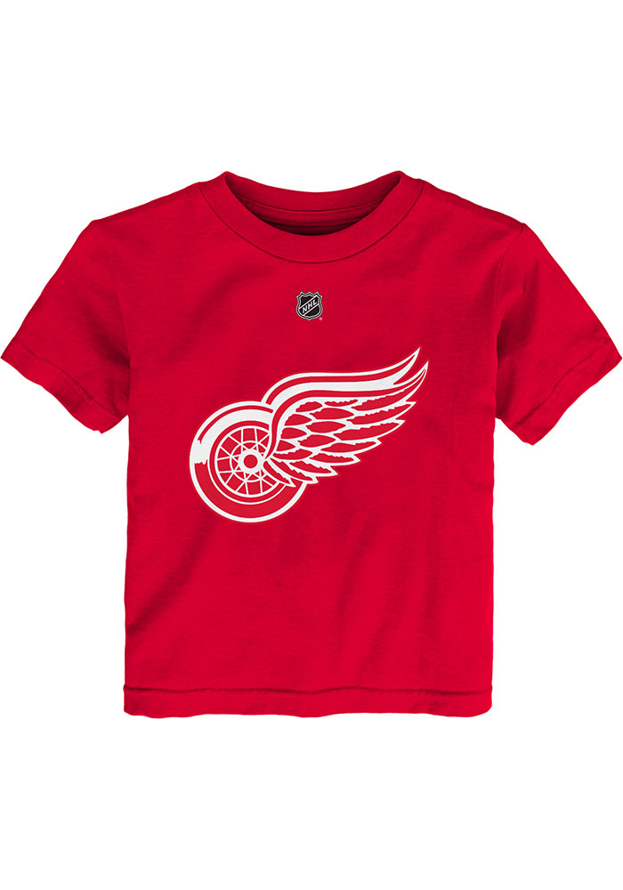 Dylan Larkin Detroit Red Wings Toddler Red Player Short Sleeve Player T Shirt - Image 2