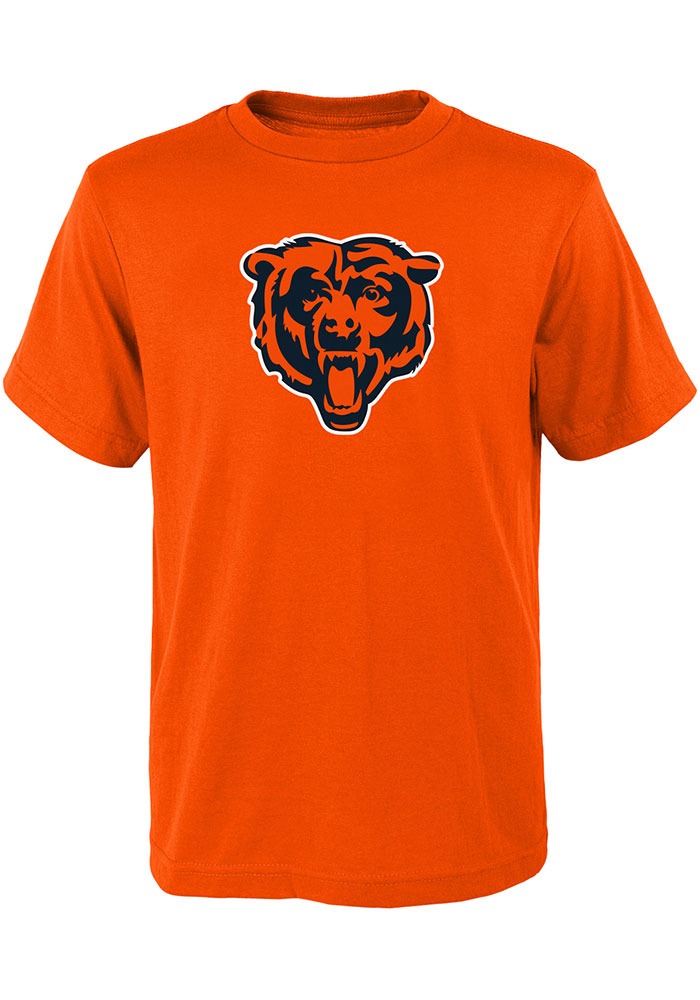 Chicago Bears Youth Orange Primary Logo Short Sleeve T-Shirt - Image 1