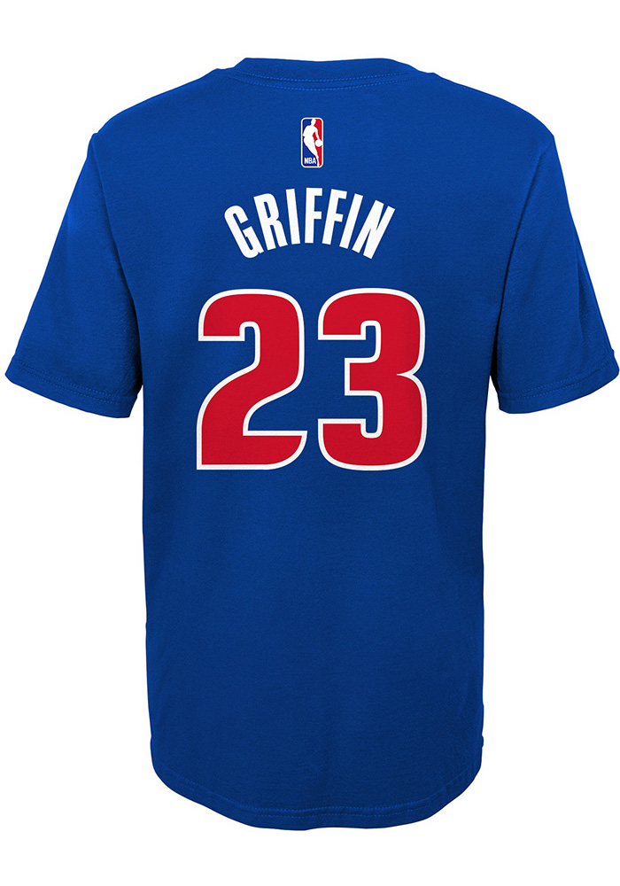the latest af51a 09b78 Blake Griffin Detroit Pistons Boys Blue Player Short Sleeve T-Shirt