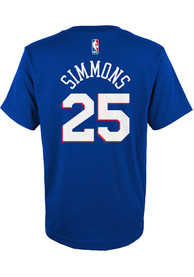Ben Simmons Philadelphia 76ers Youth Name Number T-Shirt - Blue