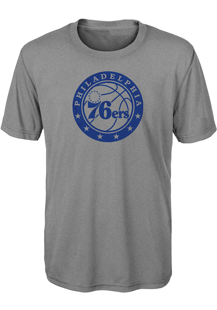 a2d9b3f2d Philadelphia 76ers Youth Grey Defensive T-Shirt