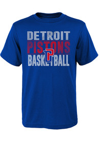 Detroit Pistons Youth Blue Trilateral T-Shirt