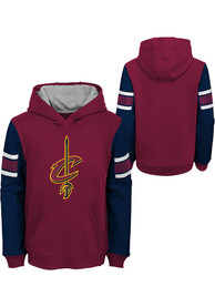 Cleveland Cavaliers Boys Block Action Hooded Sweatshirt - Red