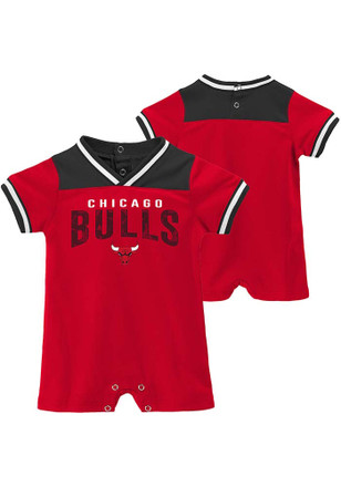 Chicago Bulls Baby Red Fan-atic Basketball One Piece 126f999bf