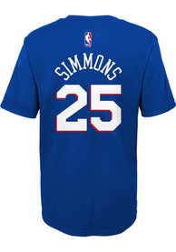 Ben Simmons Philadelphia 76ers Boys Outer Stuff Name and Number T-Shirt - Blue