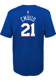 Joel Embiid Philadelphia 76ers Boys Outer Stuff Name and Number T-Shirt - Blue