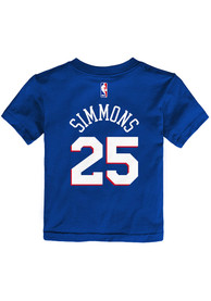 Ben Simmons Philadelphia 76ers Toddler Outer Stuff Name and Number T-Shirt - Blue
