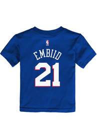 34b36dcaf1a2 Joel Embiid Philadelphia 76ers Toddler Blue Name   Number Player Tee