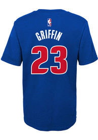 Blake Griffin Detroit Pistons Boys Outer Stuff Name and Number T-Shirt - Blue