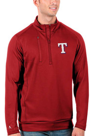 Texas Rangers Antigua Generation 1/4 Zip Pullover - Red