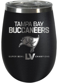 Tampa Bay Buccaneers Super Bowl LV Champions 10oz Wine Stainless Steel Tumbler - Black