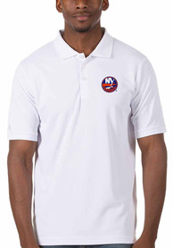 New York Islanders Antigua Legacy Pique Polo Shirt - White