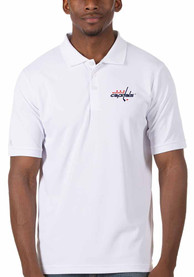 Washington Capitals Antigua Legacy Pique Polo Shirt - White