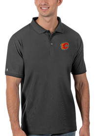 Calgary Flames Antigua Legacy Pique Polo Shirt - Grey