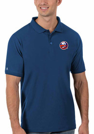 New York Islanders Antigua Legacy Pique Polo Shirt - Blue