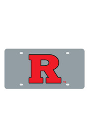 Rutgers Scarlet Knights Silver Letter Logo Car Accessory License Plate