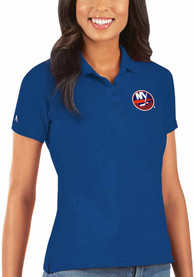 New York Islanders Womens Antigua Legacy Pique Polo Shirt - Blue