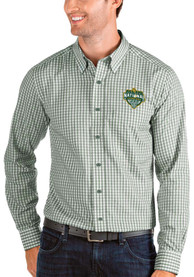 Baylor Bears Antigua 2021 National Champion Structure Dress Shirt - Green