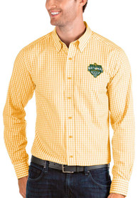 Baylor Bears Antigua 2021 National Champion Structure Dress Shirt - Gold