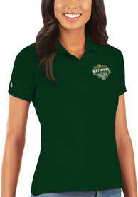 Baylor Bears Womens Antigua 2021 National Champion Legacy Pique Polo Shirt - Green