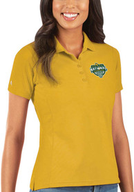 Baylor Bears Womens Antigua 2021 National Champion Legacy Pique Polo Shirt - Gold