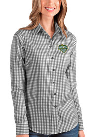 Baylor Bears Womens Antigua 2021 National Champion Structure Dress Shirt - Black
