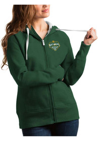 Baylor Bears Womens Antigua 2021 National Champion Victory Full Zip Jacket - Green