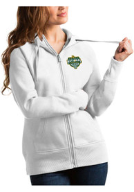 Baylor Bears Womens Antigua 2021 National Champion Victory Full Zip Jacket - White