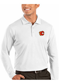 Calgary Flames Antigua Tribute Polo Shirt - White