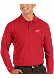 Antigua Detroit Red Wings Mens Red Tribute Long Sleeve Polo Shirt