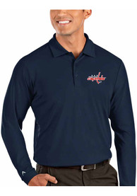 Washington Capitals Antigua Tribute Polo Shirt - Navy Blue