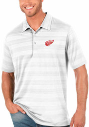 Antigua Detroit Red Wings Mens White Compass Short Sleeve Polo