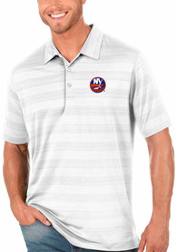 New York Islanders Antigua Compass Polo Shirt - White