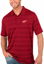Antigua Detroit Red Wings Mens Red Compass Short Sleeve Polo