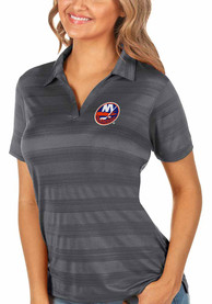 New York Islanders Womens Antigua Compass Polo Shirt - Grey