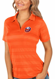 New York Islanders Womens Antigua Compass Polo Shirt - Orange