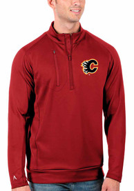 Calgary Flames Antigua Generation 1/4 Zip Pullover - Red