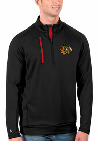 Chicago Blackhawks Antigua Generation 1/4 Zip Pullover - Black
