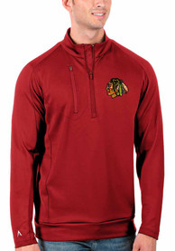 Chicago Blackhawks Antigua Generation 1/4 Zip Pullover - Red
