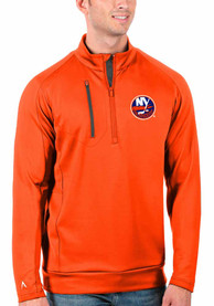 New York Islanders Antigua Generation 1/4 Zip Pullover - Orange