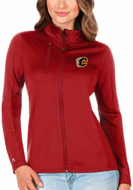 Calgary Flames Womens Antigua Generation Light Weight Jacket - Red