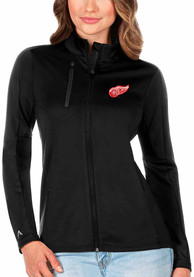 Detroit Red Wings Womens Antigua Generation Light Weight Jacket - Black