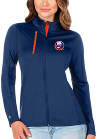 New York Islanders Womens Antigua Generation Light Weight Jacket - Blue